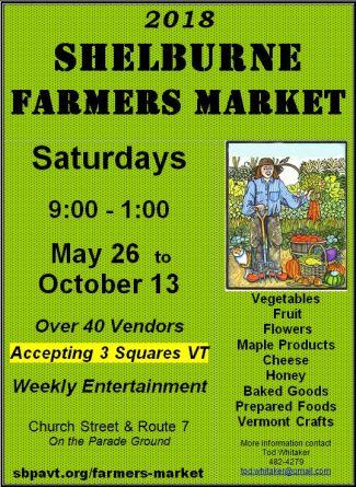 Shelburne Farmers Market 2018 Poster