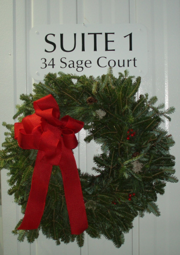 sage ct holiday wreath